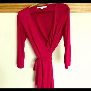 Diane Von Furstenberg Pink Wrap Dress 👗